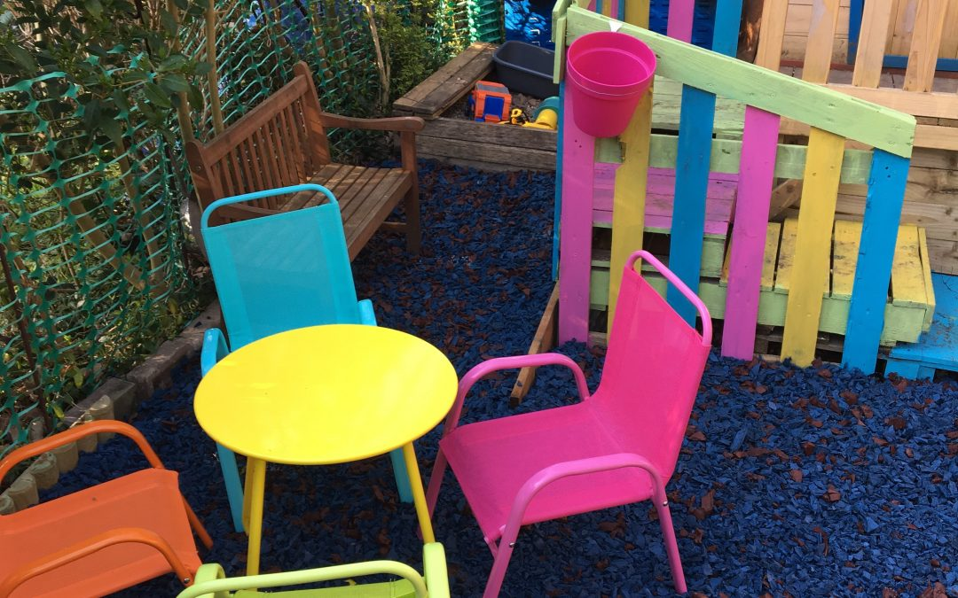 Eco Play Steel Blue Chippings with signature colour